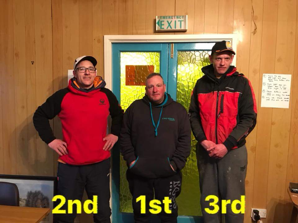EASTER FEST 2018,  1st. A. SHEPHERD 2nd. A. HICKS. 3rd. P. HULME.