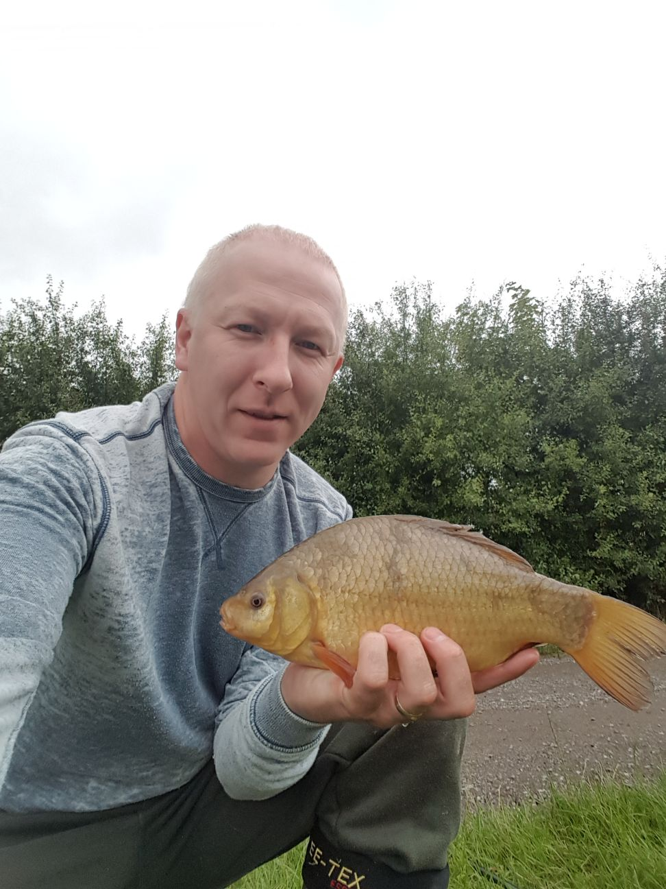 LARGE CRUCIAN CAUGHT BY JASON.