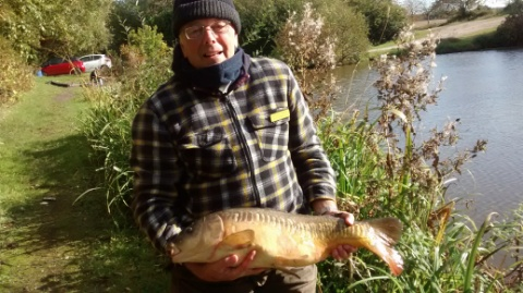 CARP 14lb CAUGHT ON BREAD PUNCH.  17/10/17.