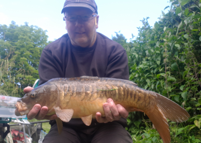 CARP CAUGHT BY ROBERT PILKINGTON(caught on 6mm banded pellets) Weighing 10lb 9oz.6/6/19.